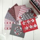 Набор открыток, конвертов и стикеров DCWV -  Candycane Christmas - 32 шт
