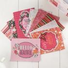 Коробочка с открытками и конвертами BoBunny -  «Sweet Clementine» (80 шт)