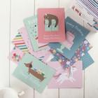 Коробочка с открытками и конвертами Pebbles - «Happy Cake Day» (80 шт)