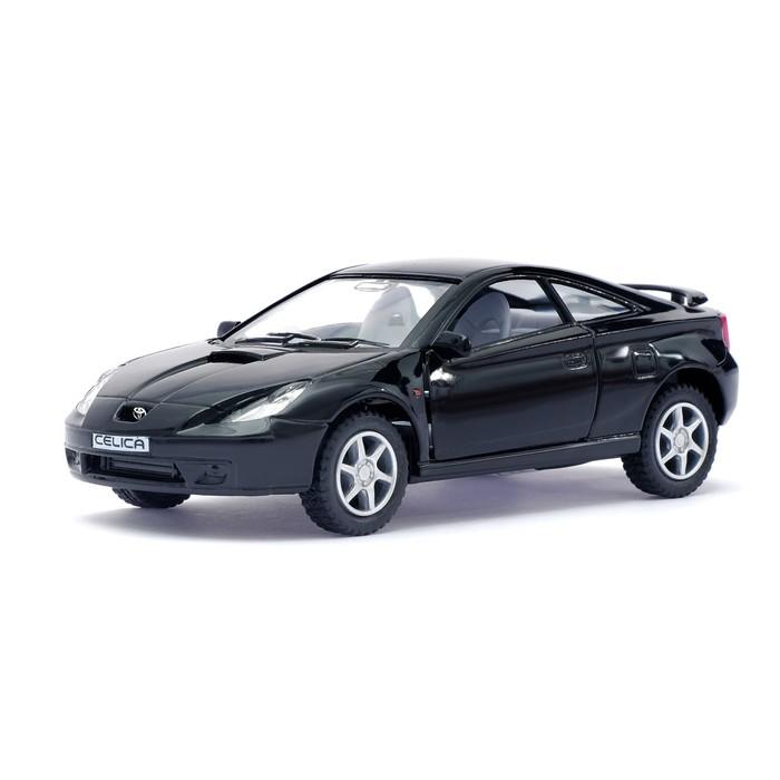 Машина металлическая Toyota Celica, 1:34, открываются двери, инерция, цвет чёрный - фото 105651669