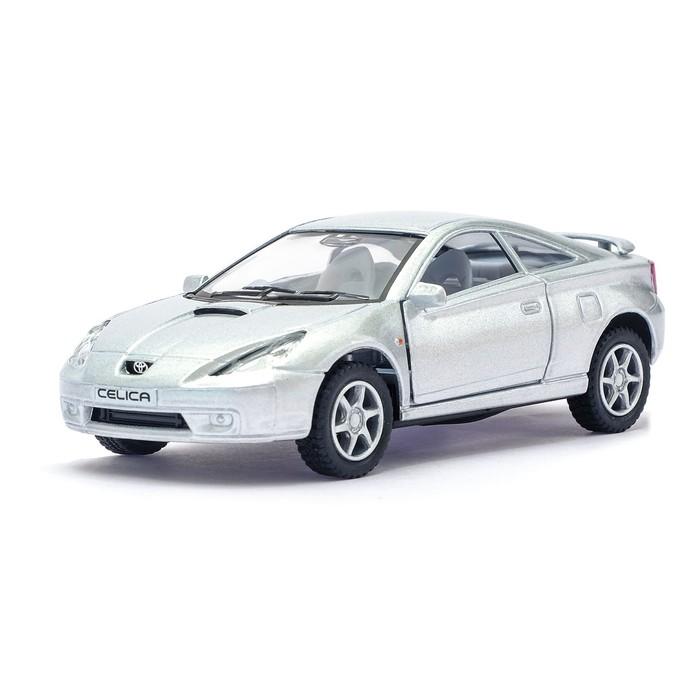 Машина металлическая Toyota Celica, 1:34, открываются двери, инерция, цвет серый - фото 105651673