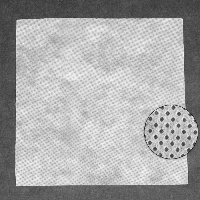 Канва водорастворимая, 20 × 20 см, цвет белый
