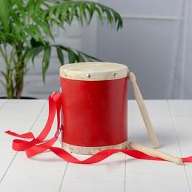 Барабан с 2 палочками на верёвке 12,5×12,5×15 см