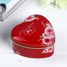Шкатулка металл сердце
