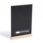 Набор 2 предмета: тейбл-тент А4, меловая табличка на деревянной подставке, маркер WOODEN BAS   47906