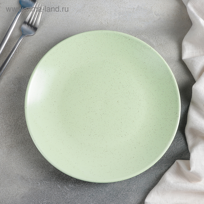 """Plate dining """"Amelia"""" 25x2,6 cm, color green"""
