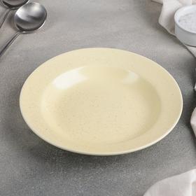 "Deep plate ""Amelia"" 20,5x3,5 cm 250 ml, colour yellow"