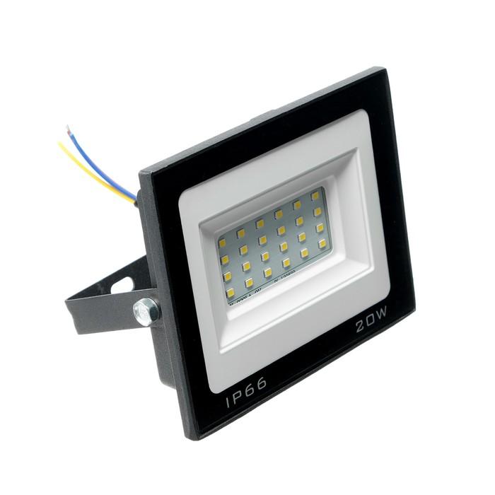 Прожектор светодиодный Luazon Lighting 20 Вт, 1600 Лм, 4000К, IP66,  220V