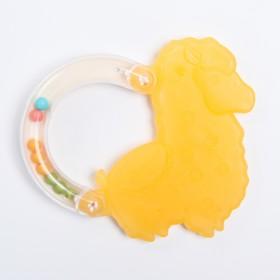 Прорезыватель с погремушкой «Лама», цвет МИКС