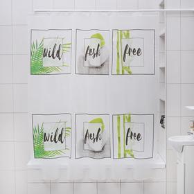 Штора для ванной комнаты Доляна «Стоун», 180×180 см, EVA