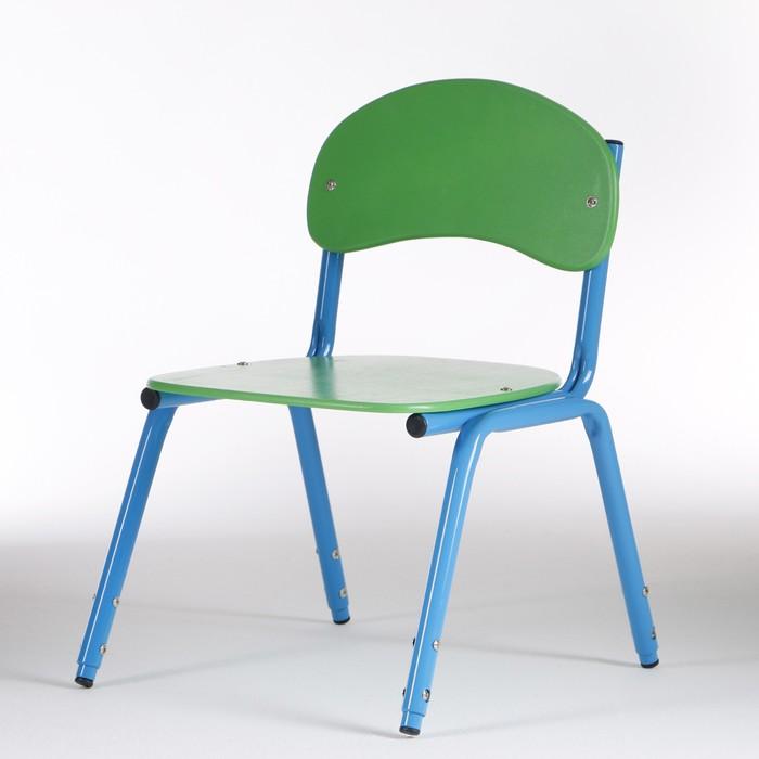 Стул детский штабелируемый Сема гр.1-3, Зеленый/Синий - фото 1004507
