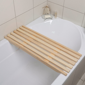 Сиденье в ванну 68×31×4 cм, форма МИКС