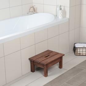 Ступенька для ванной с покрытием, 39×27×19 см