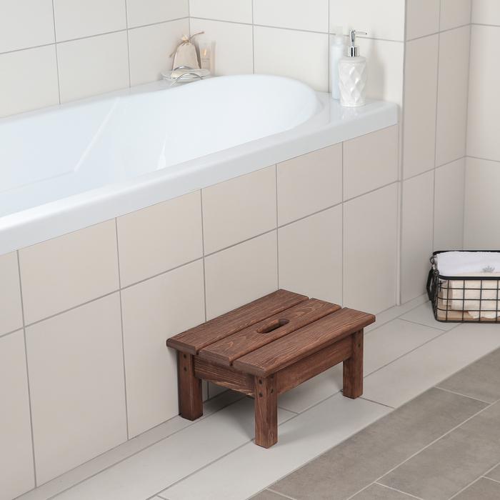 Ступенька для ванной с покрытием 39×27×19 см