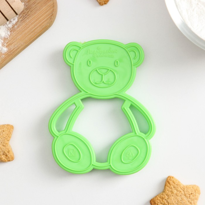 """Форма для печенья и пряников """"Мишка"""", цвет зелёный"""