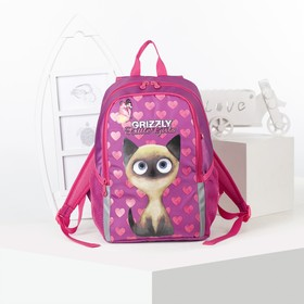 Рюкзак школьный, отдел на молнии, наружный карман, цвет фуксия