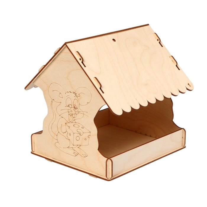 Кормушка для птиц «Мышь новогодняя», 22 × 20 × 22 см, Greengo