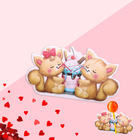 """Card under candy """"Cats"""" 5 x 9 cm"""