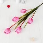 """Цветы искусственные """"Тюльпан Аморета"""" 4*90 см,( размер бутона 6х4см)  малиновый - фото 4455730"""