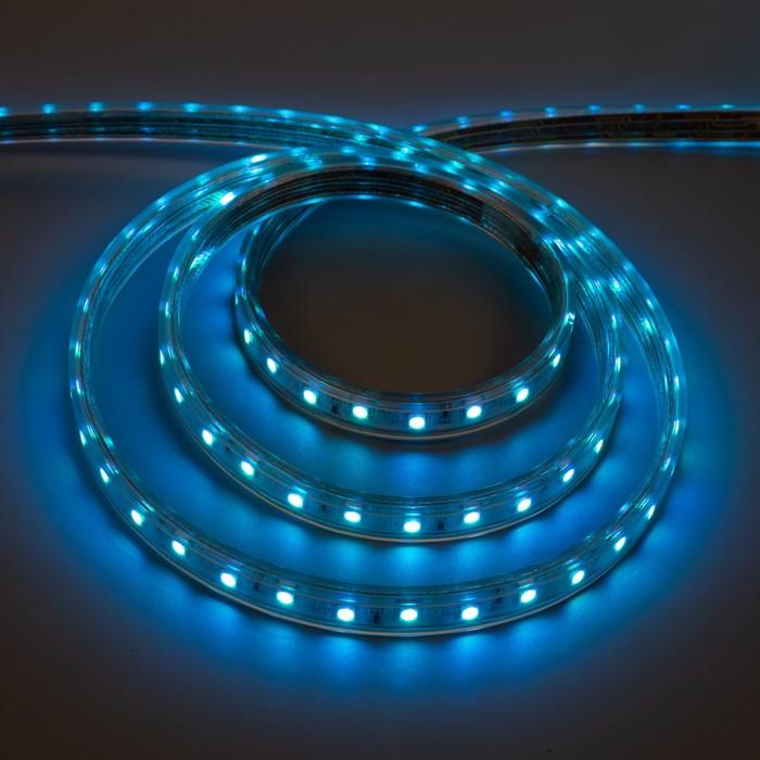Лента светодиодная Ecola, 220 В, SMD5050, 50 м, IP68, 60Led/м, 14.4 Вт/м, RGB