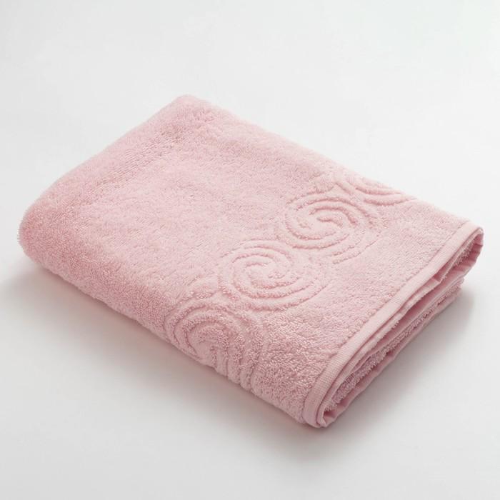 Полотенце махровое Love Life Border 70*130 светло-розовый, 100% хлопок, 360 г/м2