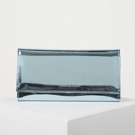 Wallet wives 04-03-01, 19*2*8, otd 2 frame, 3 otd, d/maps on the flap, blue