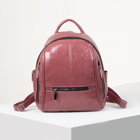 Backpack young L-11733, 28*10*35, otd zip, 6 n/pockets, pink
