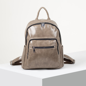 Backpack young L-11687, 30*17*33, otd zip 5 n/pockets, gray