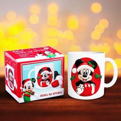 """Set decor for mugs polymer clay """"New year!"""", Mickey Mouse"""