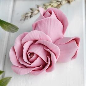 Силиконовая форма для мыла «Бутон розы тройной»