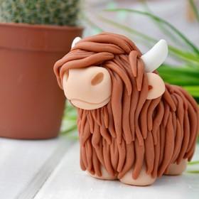 Силиконовая форма для мыла «Корова шотландская»