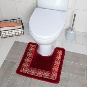 Коврик для туалета «Травка», 46×46 см, цвет и рисунок МИКС