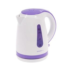 Чайник электрический FIRST FA-5427-0, 2200 Вт, 1.7 л, пластик, бело-фиолетовый