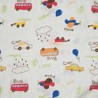 """Одеяло лёгкое Крошка Я """"Машинки"""" 90*90 см, муслин четырехслойный, 100% хлопок - фото 105555128"""