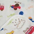 """Одеяло лёгкое Крошка Я """"Машинки"""" 90*90 см, муслин четырехслойный, 100% хлопок - фото 105555129"""
