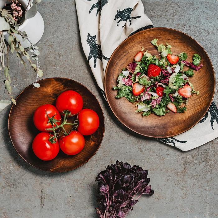Набор тарелок из натурального кедра Mаgistrо, 2 шт, d=21,5 см, 25 см, цвет шоколадный