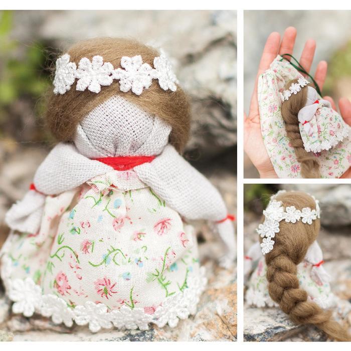Кукла-оберег «На счастье», набор для творчества 21 х 14,85 см - фото 691769
