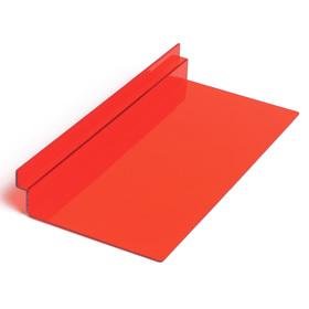 Полка для экономпанелей, для обуви прямоугольная, 25*11,5*3,5, цвет красный Ош