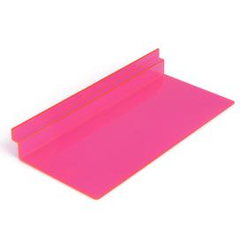 Полка для экономпанелей, для обуви прямоугольная, 25*11,5*3,5, цвет розовый Ош