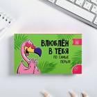"""Бумажный блок в пластиковом футляре """"Фламинго"""", 100 листов + 2 стикера"""