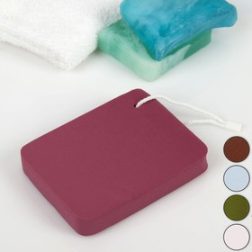 Спонж для умывания «Прямоугольник», 10,5 × 8 см, с подвесом, увеличивается при намокании, цвет МИКС Ош