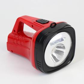 Фонарь-прожектор аккумуляторный, 2 Вт+3 Вт, 800 mAh, от сети 220 В, 18.5х12х11, красный в Донецке