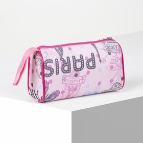 Cosmetic bag-purse, Department zipper, color pink