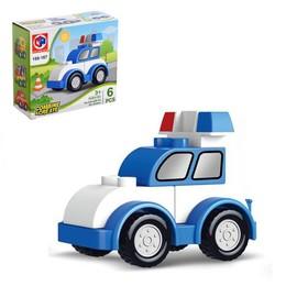 Конструктор «Полицейская машина», 6 деталей