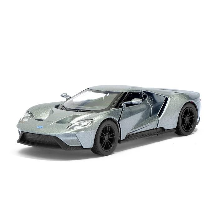 Машина металлическая Ford GT, 1:38, открываются двери, инерция, цвет серый - фото 105651722
