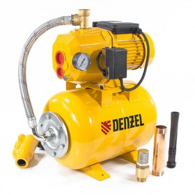 Насосная станция эжекторная Denzel PSD800C, 800 Вт, 2400 л/ч, ресивер 24 л, всасывание 20 м   481425
