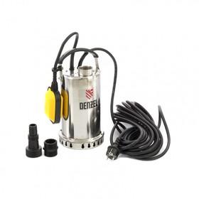 Насос дренажный Denzel DP600X, 600 Вт, подъем 7,5 м, 8500 л/ч, съемный кабель 10м