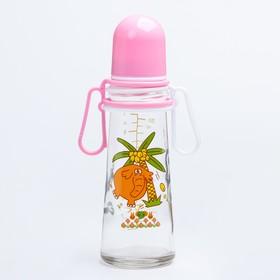 Бутылочка для кормления 250 мл., стекло, цвет МИКС