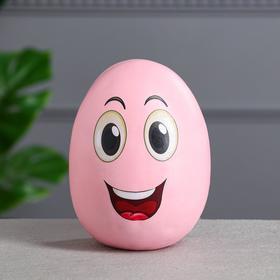 """Копилка """"Яйцо"""", глянец, розовый цвет, 17 см"""