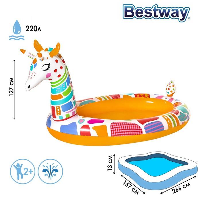 Игровой бассейн «Жираф», с брызгалкой, 266 x 157 x 127 см, 53089 Bestway